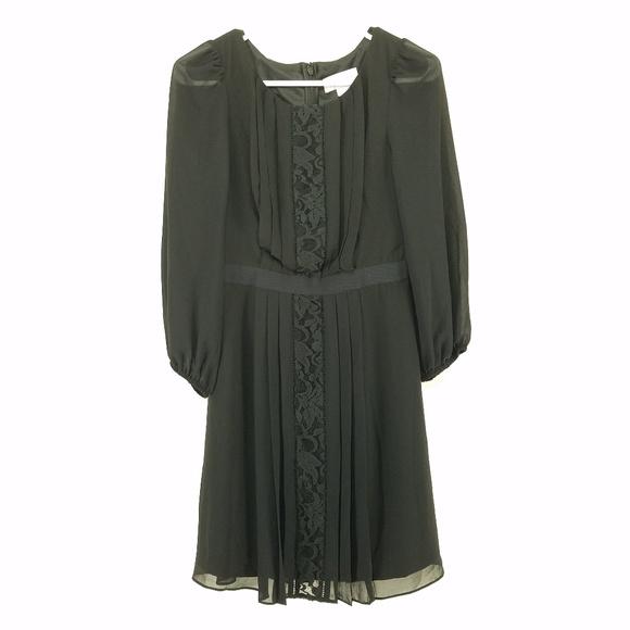Jessica Simpson Black Sheer Long Sleeve Dress